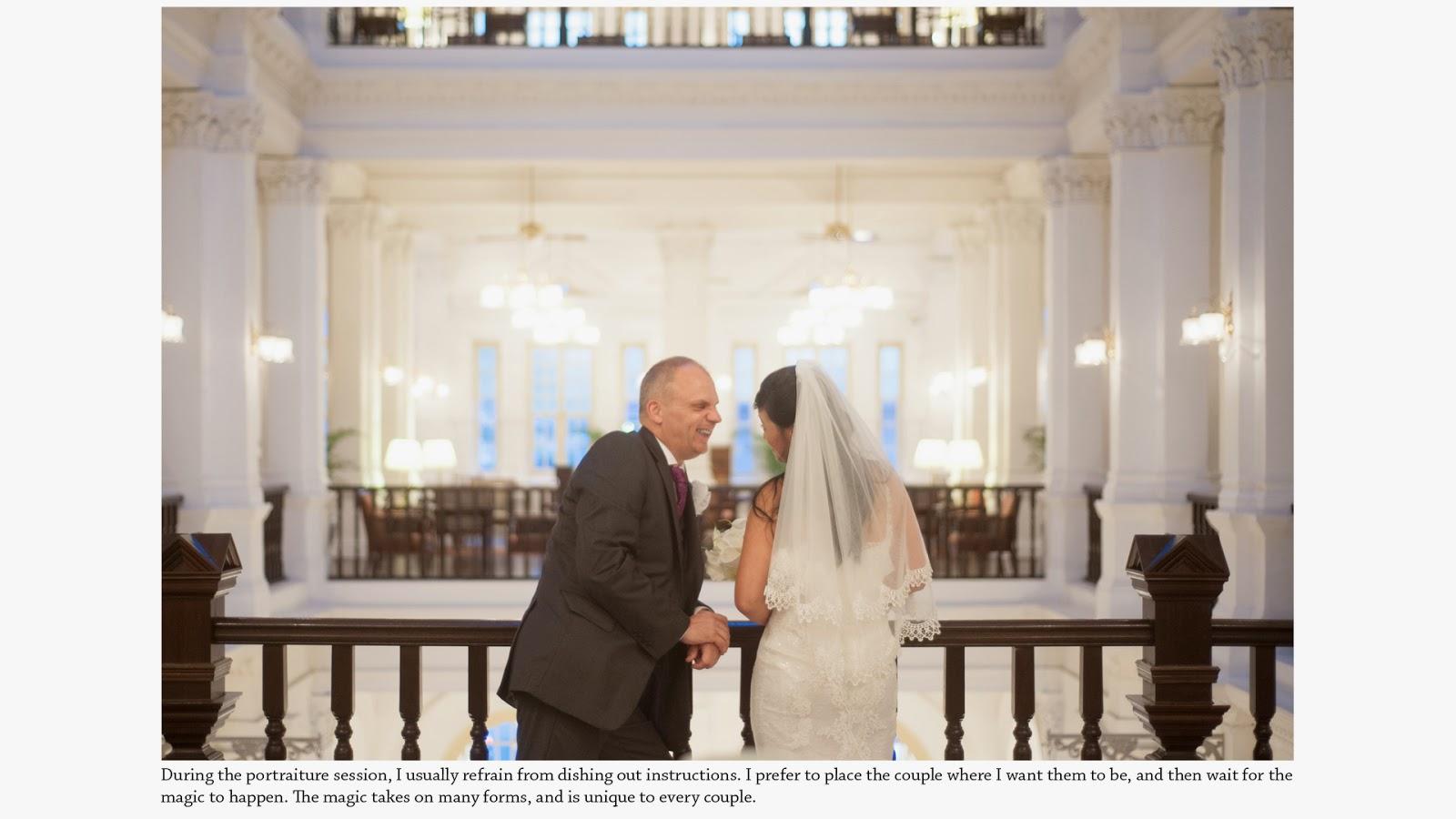 wedding photography raffles hotel intro
