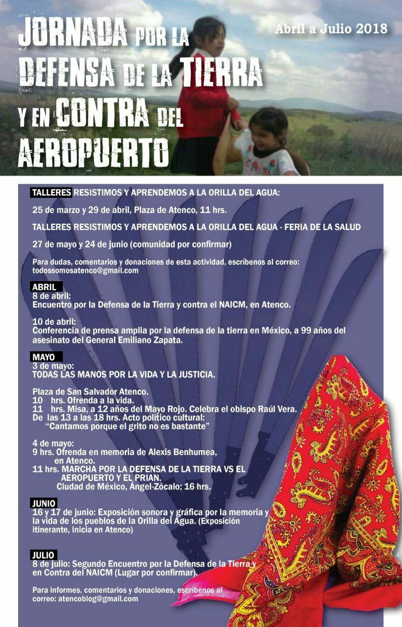 Súmate y participa en la Jornada por la Defensa de la Tierra y en contra del #AeropuertoDeMuerte