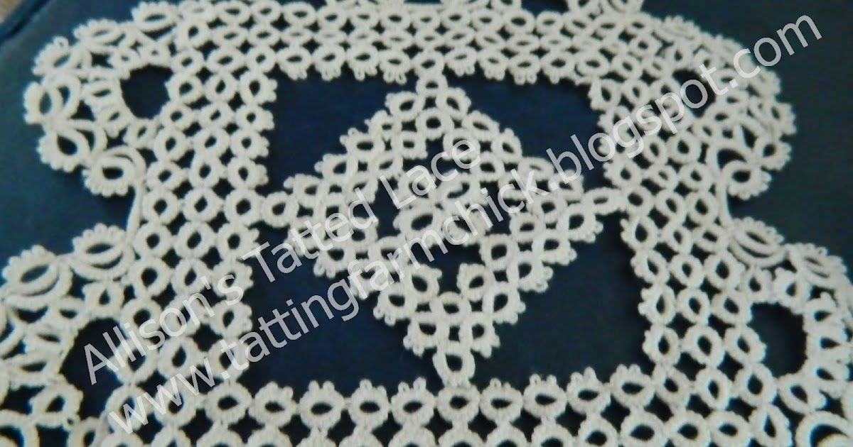 Allison S Tatted Lace Stawasz Doily Finished