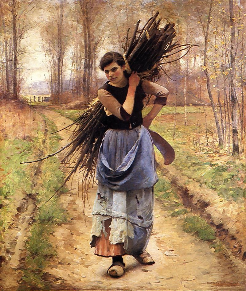 Charles  Sprague  Pearce  the  woodcutters  daughter