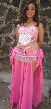 vestuario danza arabe rosa