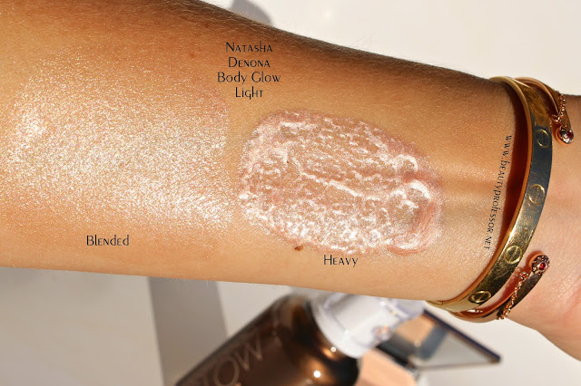 natasha denona body glow swatch