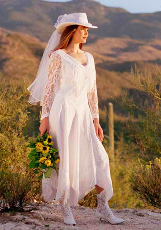Cowboy wedding dress wedding ideas for Dresses for a country wedding