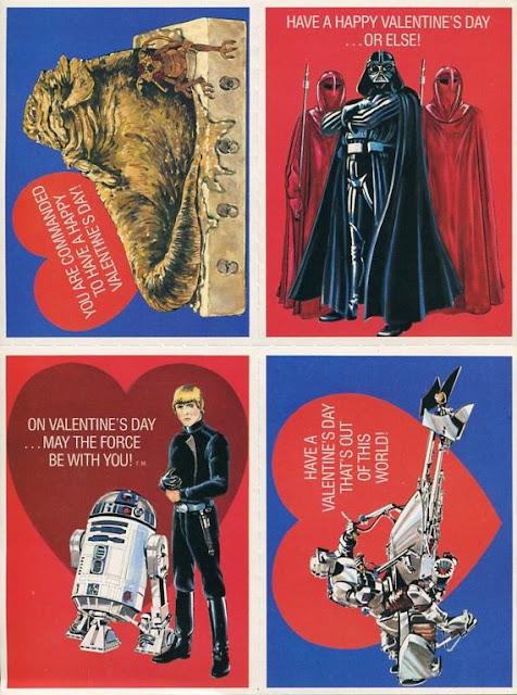 Небольшая подборка открыток ко дню святого Валентина star wars valentine