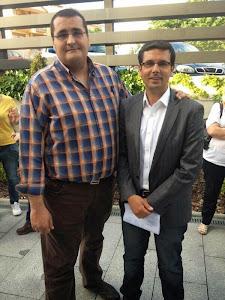 Con mi amigo Paco Cuenca, Concejal del Ayuntamiento de Granada
