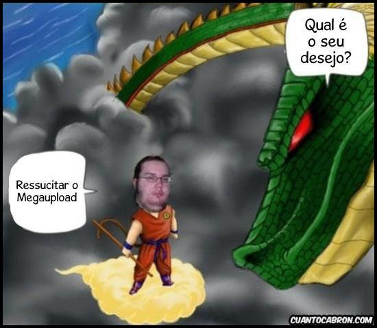 Tirinha: Desejo que ressuscite o Megaupload...