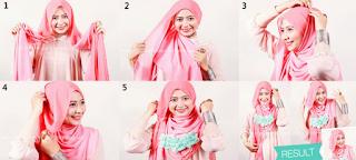 Model Hijab Segi Empat Untuk ke Pesta