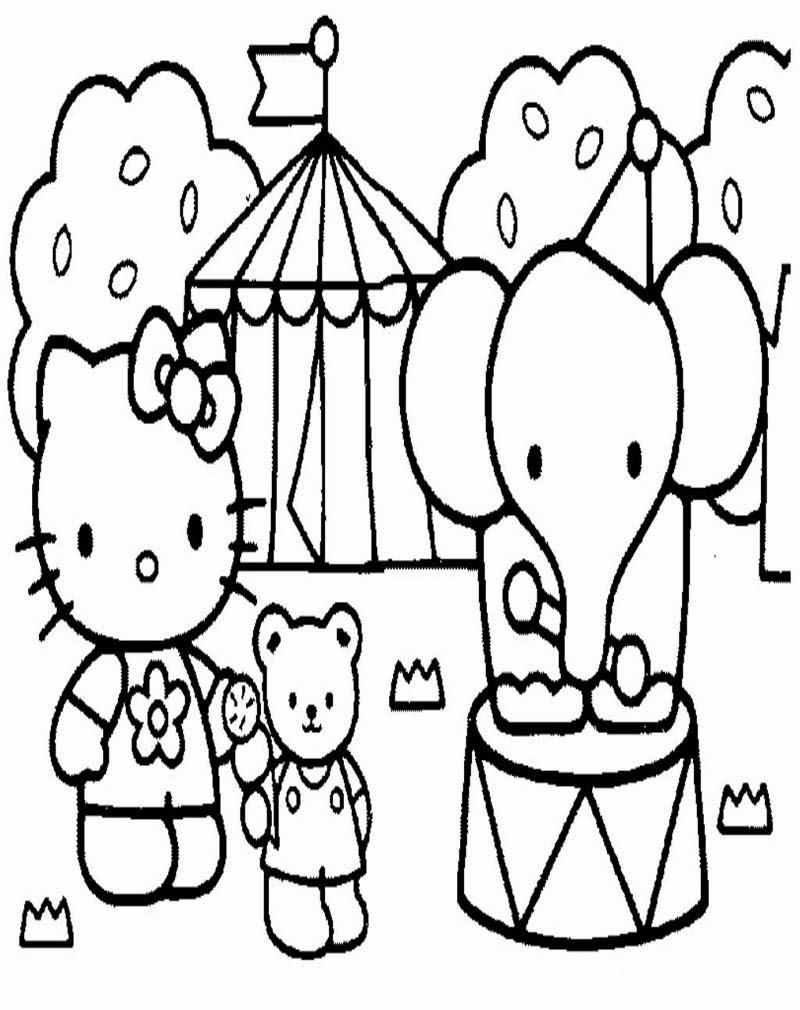 Mewarnai Gambar Hello Kitty AyoMewarnai