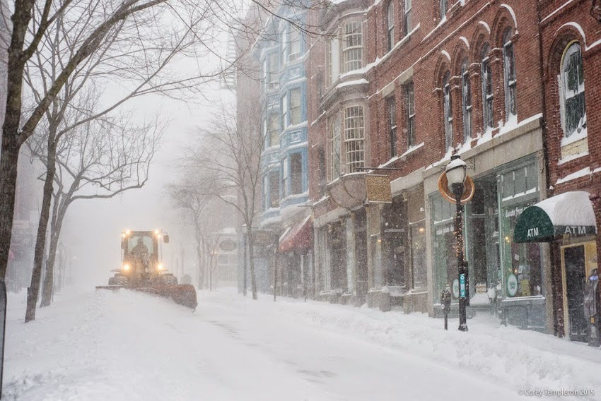 Portland, Maine January 2015 Snow storm on Exchange Street Photo by Corey Templeton