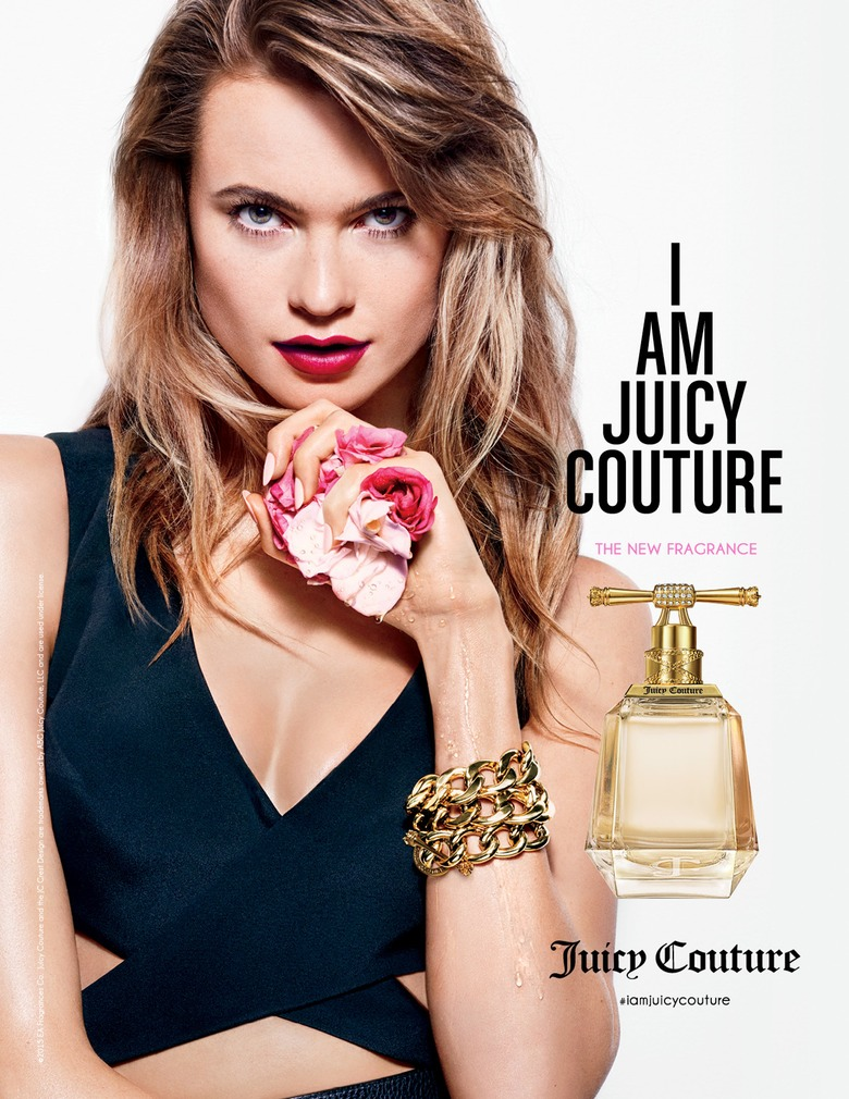 Behati Prinsloo is seductive for the 'I am Juicy Couture' fragrance campaign