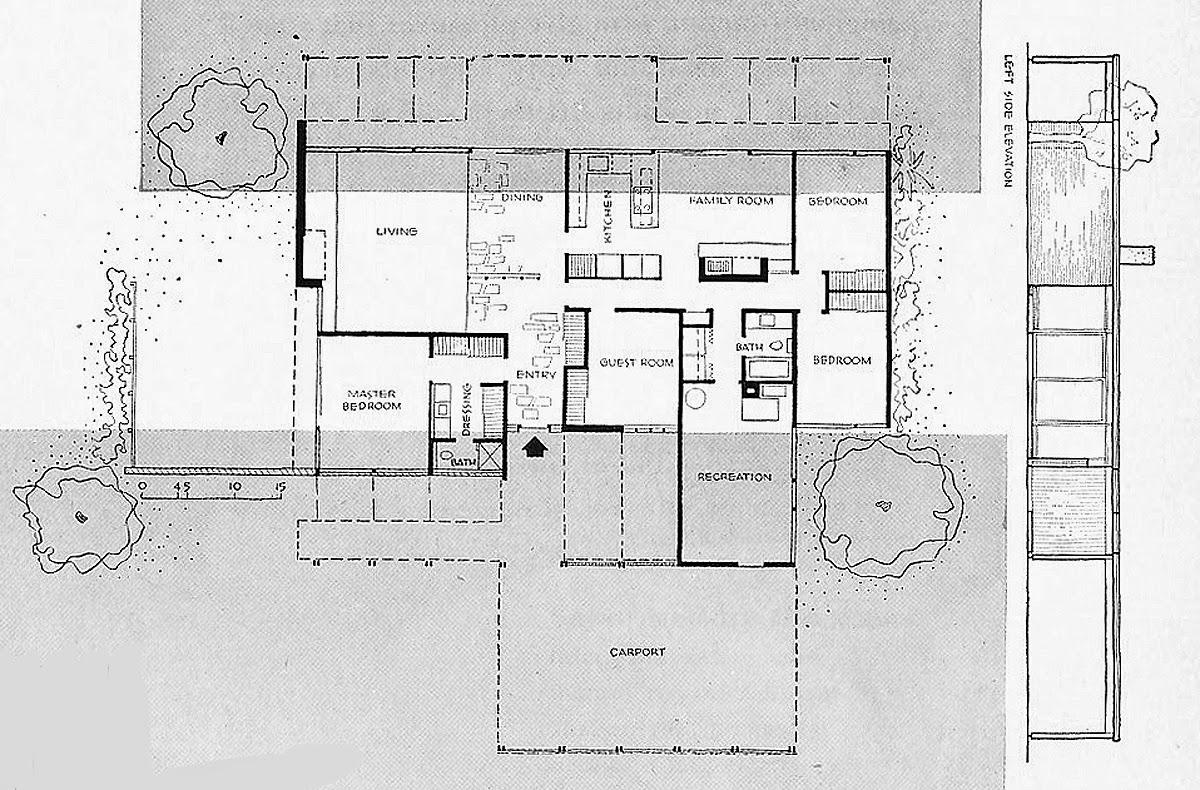 Case study house 16 plans house design plans for Case study houses floor plans
