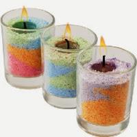 Cara Membuat lilin hias cantik dalam gelas