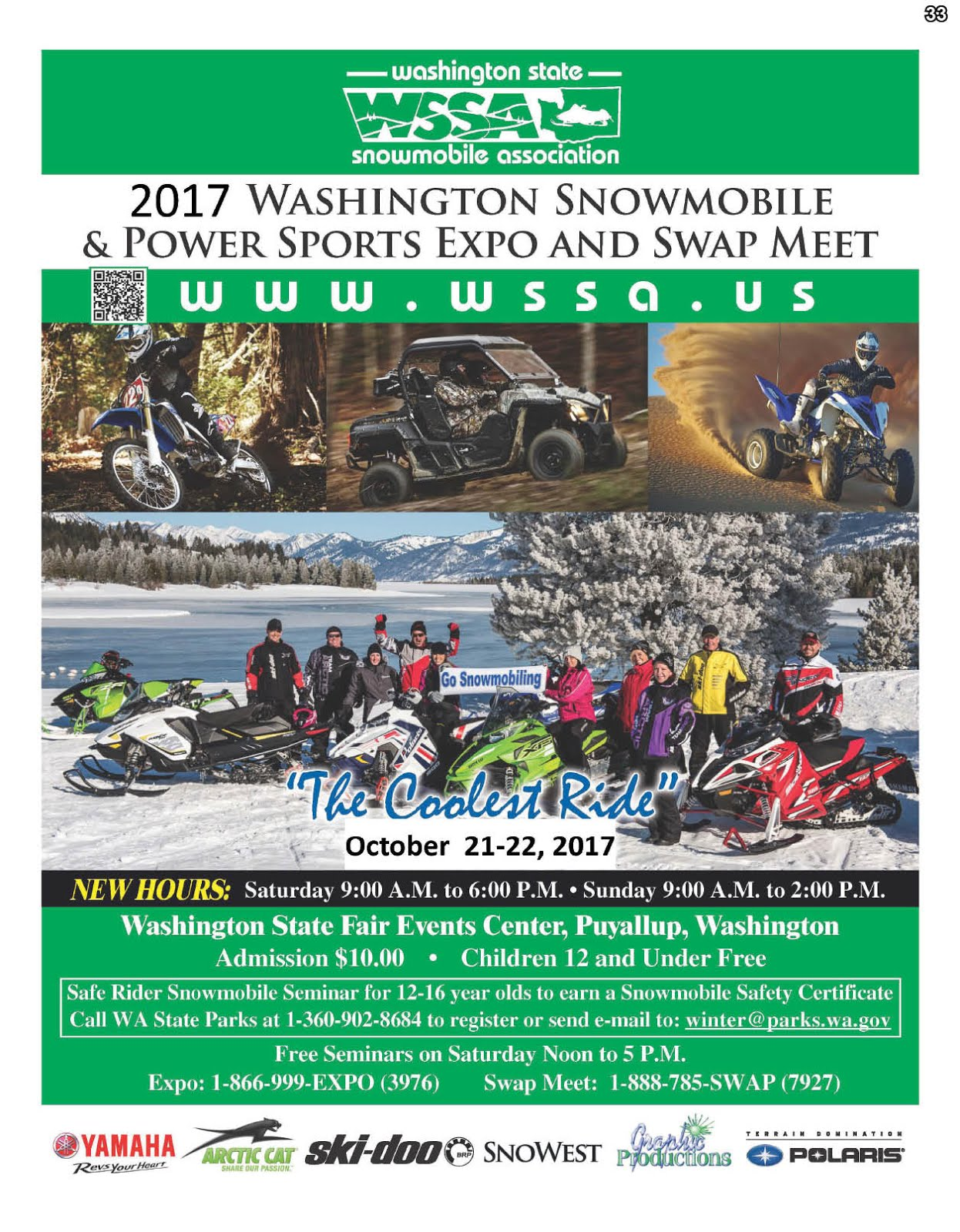 Join NW Road & Marine Magazine @ 2017 Washington Snowmobile & Power Sports Expo/Swap Meet!!
