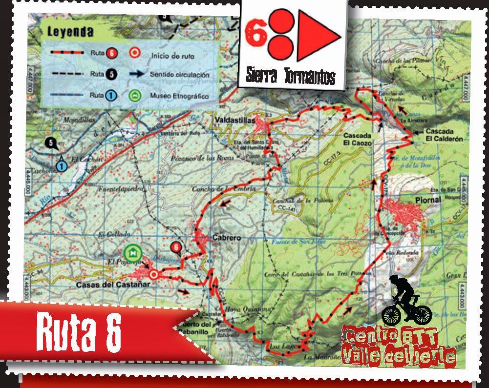 CENTRO BTT VALLE DEL JERTE. RUTA 6: Sierra de Tormantos