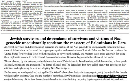 International Jewish Anti-Zionist Network in The New York Times