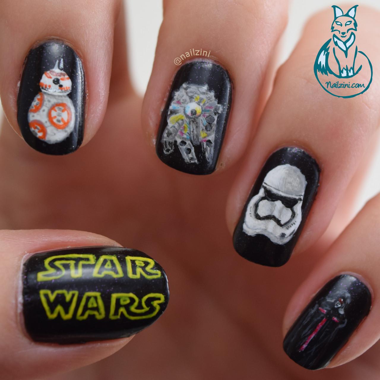 Star Wars: The Force Awakens nail art