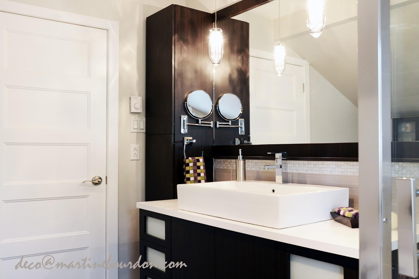 L 39 espace d co avant apr s une salle de bain douce et - Vanite salle de bain contemporaine ...