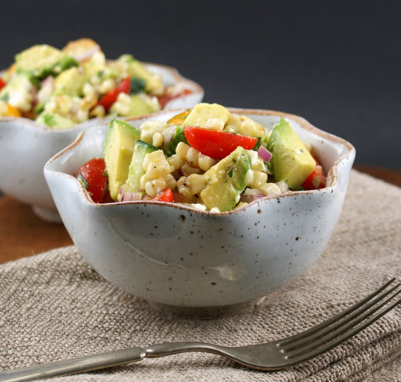 ... Gourmet: Avocado and Grilled Corn Salad with Cilantro Vinaigrette