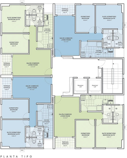 3 Bedrooms Apartment Floor Plans