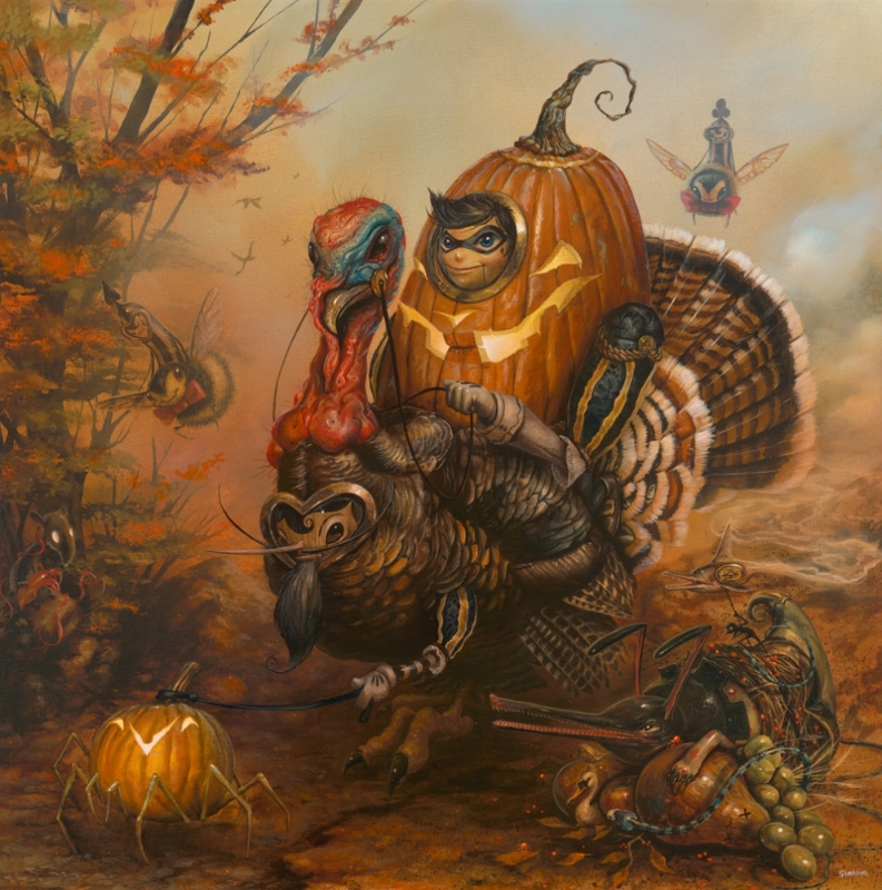 17-Gobbler-Greg-Craola-Simkins-Fantastical-Surreal-Paintings-Full-of-Details