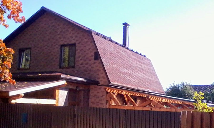 Гибкая черепица на крыше