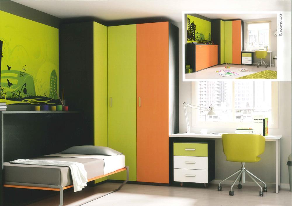 Dise os de dormitorios para adolescentes con mucho color for Mobiliario dormitorio juvenil
