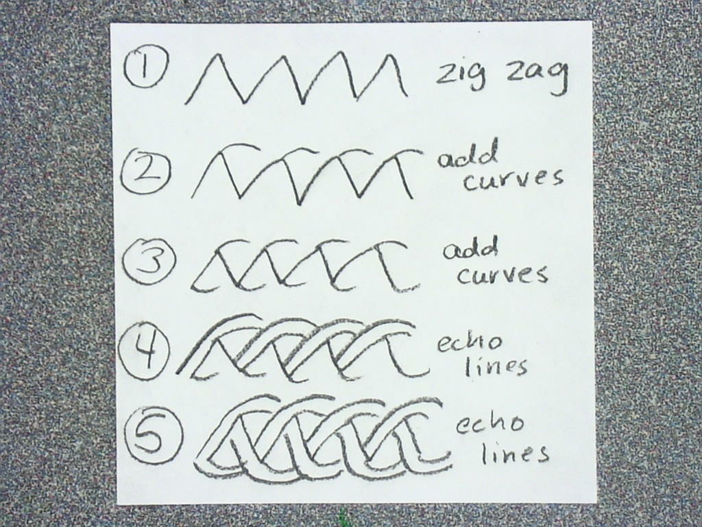 zentangle pattern here are the steps for the pattern How To Draw A Train For Kids Step By Step