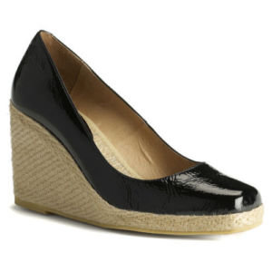 Lk Bennett Black Suede Wedge Shoes