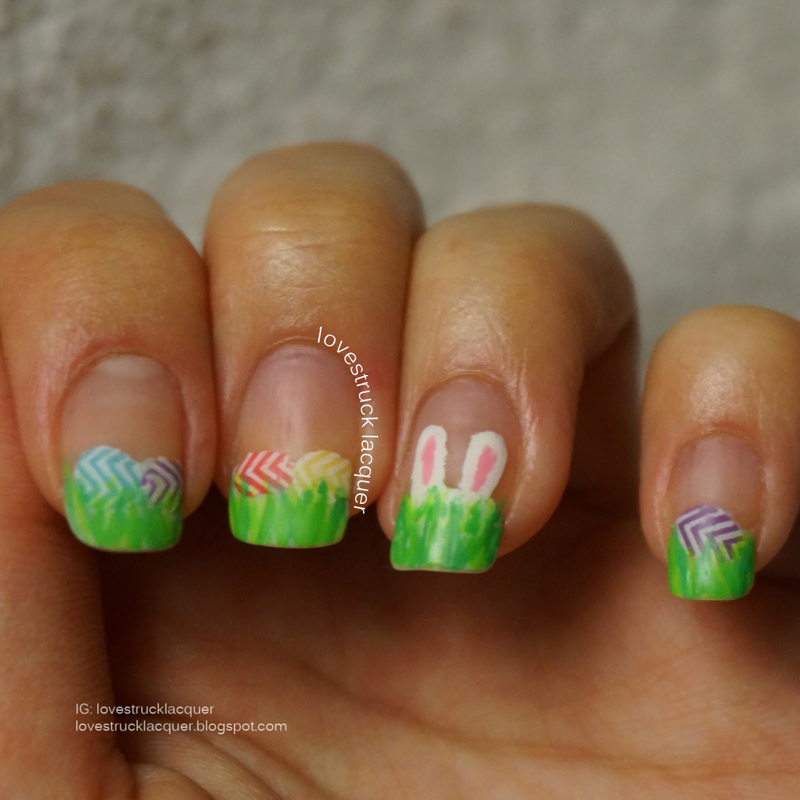 Lovestruck Lacquer: Easter Egg Hunt - Tip Nail Art