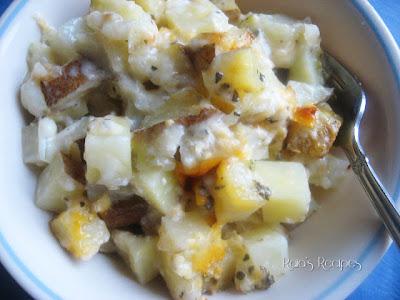 Three Cheese Potato Bake by Raia's Recipes