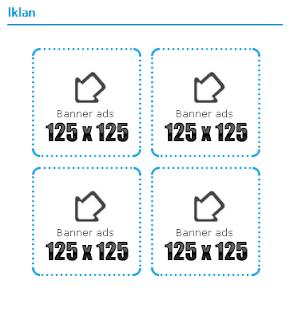 Cara membuat Kotak iklan 125 x125 keren