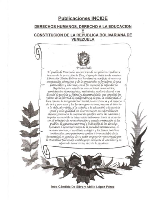 Derechos Humanos, Derechos a la Educación y Constitución Nacional
