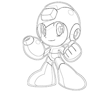 #11 Mega Man Coloring Page