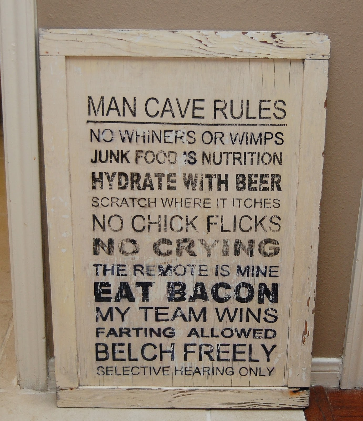 Man Cave Door Sign : Boxers cleats and me new signs