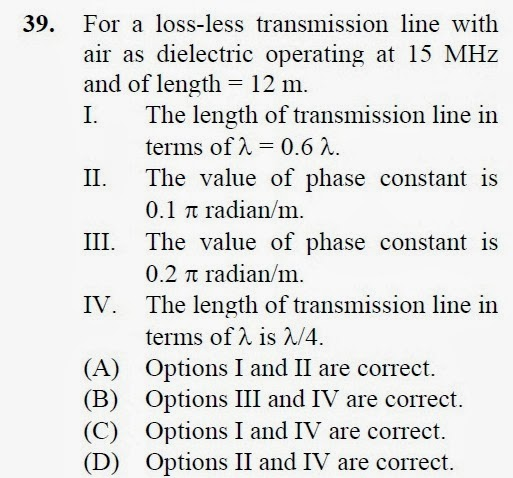 2012 December UGC NET in Electronic Science, Paper III, Questions 39