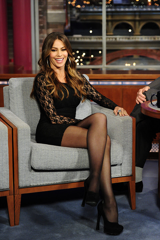 Colombian Model Sofia Vergara Spicy Photos at Letterman Show