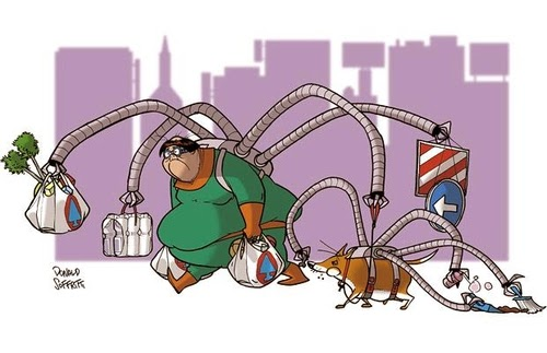 09-Spider-Man-Doctor-Octopus-Dr-Otto-Octavius-Donald-Soffritti-Cartoon-Cartoonist-Superheroes-in-Old-Age-www-designstack-co