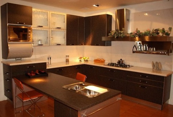 U Shaped Kitchen: In This Designing, Wall Cabinets And Appliances Together  Form A U201cUu201d.