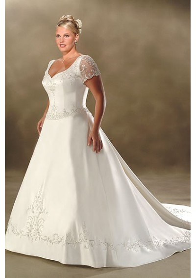 Cheap wedding gowns online blog tips for buying your plus for Plus size silk wedding dresses