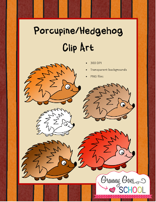 https://www.teacherspayteachers.com/Product/PorcupineHedgehog-Clip-Art-2093317