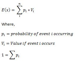 formula expected value