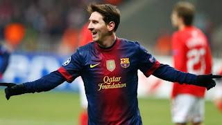 Barcelona forward Lionel Messi returns to team training