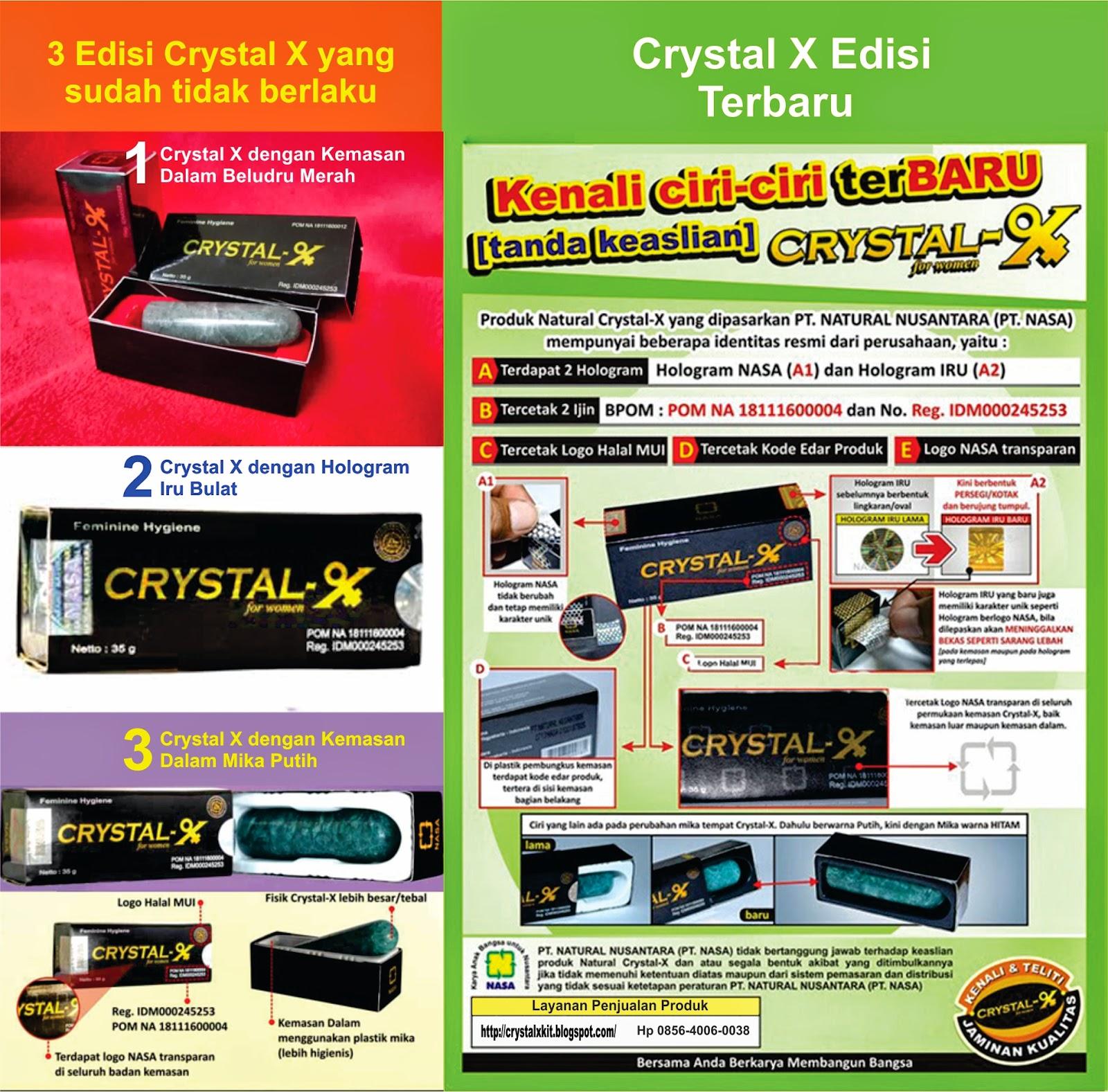 ciri-ciri crystal x asli