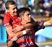 Diaz festeja su gol