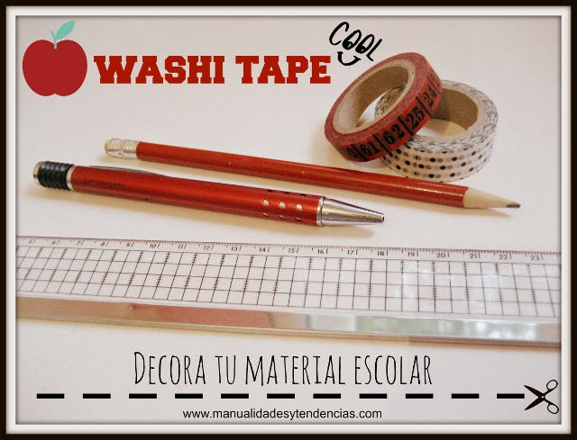 Washi tape Personalizar el material escolar / Personalized school supplies / Customize les fournitures scolaires