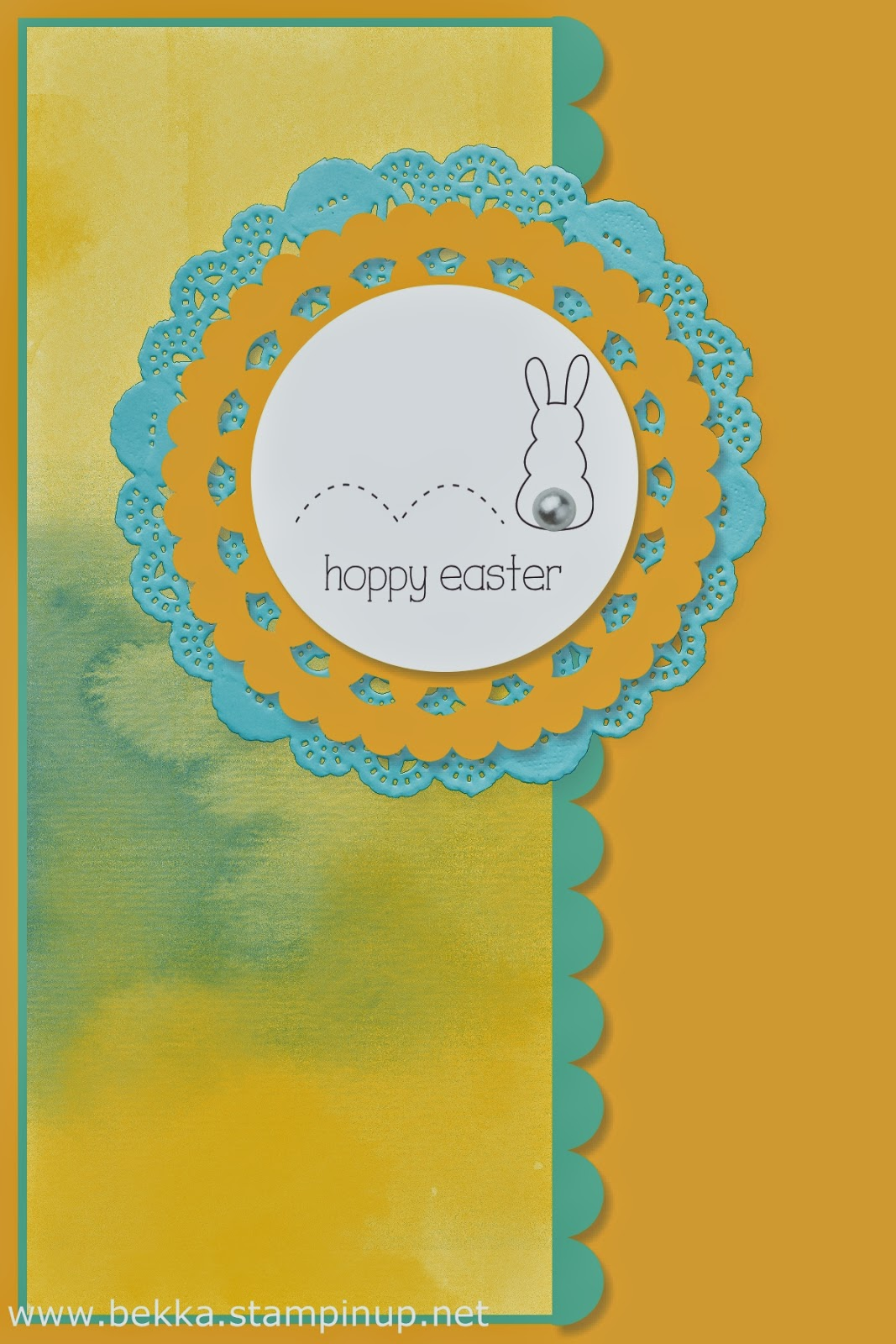 Hoppy Easter Digital Card using Stampin' Up! Products - check out this UK blog for new digital ideas every Monday