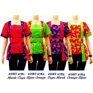 DBT 2781-2784 Baju Blouse Batik Wanita Terbaru 2013