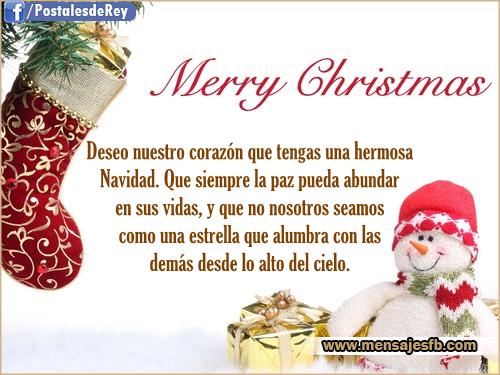 Tarjetas hermosas para navidad mensajes para amor - Postales de navidad bonitas ...