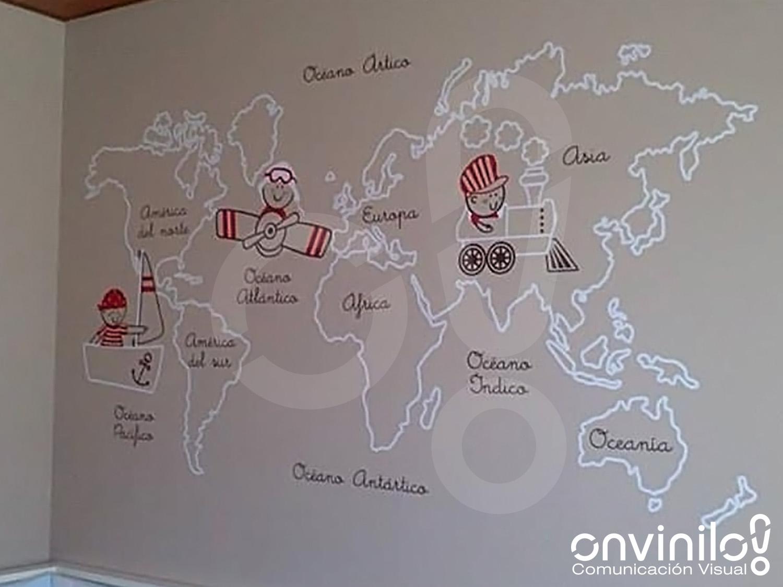 Onvinilo comunicaci n visual blog mapamundi de vinilo - Vinilo mapa mundi ...