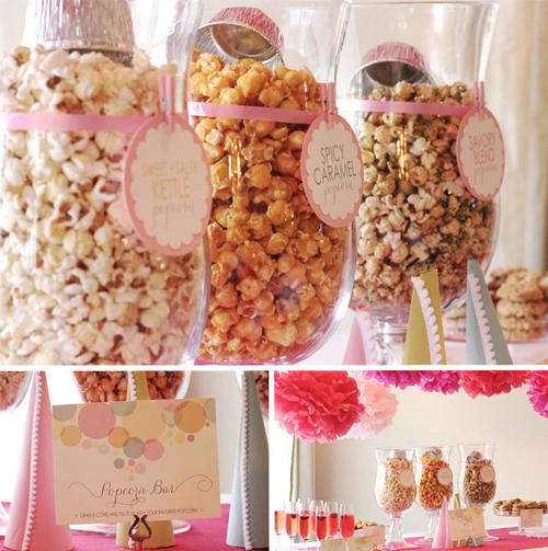 ready to pop pink sprinkle popcorn shower party popcorn